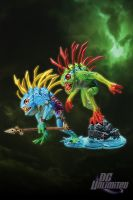 DC Unlimited: World of Warcraft: Series 4: MURLOC 2-PACK: FISH-EYE AND GIBBERGIL Action Figures