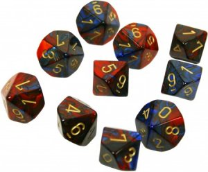 CHESSEX RPG GEMINI BLUE-RED/GOLD