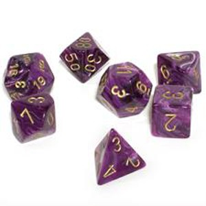 CHESSEX RPG СТИХИИ VORTEX PURPLE/GOLD