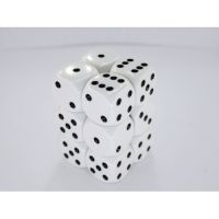 Opaque White/Black 12x16mm D6