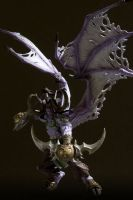 DC Unlimited: World of Warcraft: Series 1: ILLIDAN STORMRAGE Deluxe Collector Figure