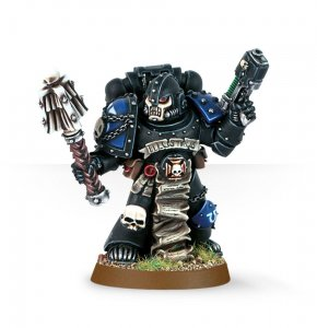 Space Marine Chaplain with Crozius and Plasma Pistol