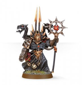 Chaos Space Marines Sorcerer with Force Staff and Plasma Pistol
