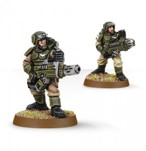 Imperial Guard Cadian with Plasma Gun and Meltagun