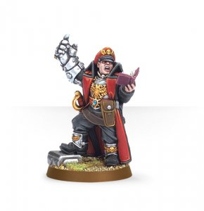 Imperial Guard Commissar with Power Fist