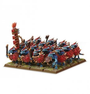 Lizardmen Saurus Warrior Regiment