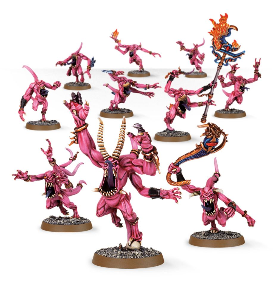 pink horrors of tzeentch chaos daemons games workshop