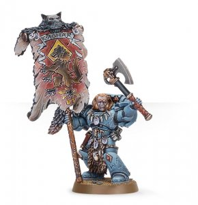 Space Wolves Grey Hunter with Wolf Standard