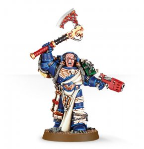 Space Marine Librarian with Axe and Plasma Pistol