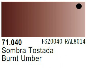 Vallejo Model Air: 71.040 Burnt Umber 17ml