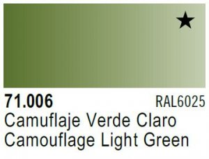 Vallejo Model Air: 71.006 Camouflage Light Green 17ml