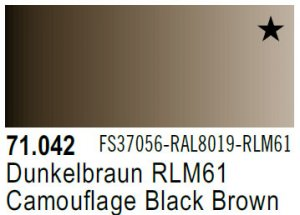 Vallejo Model Air: 71.042 Camouflage Black Brown 17ml
