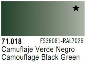 Vallejo Model Air: 71.018 Camouflage Black Green 17ml