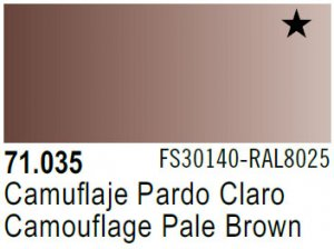 Vallejo Model Air: 71.035 Camouflage Pale Brown 17ml
