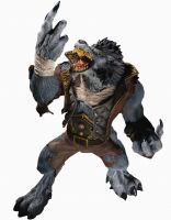 DC Unlimited: World of Warcraft: Series 7: WORGEN SPY: GARM WHITEFANG Action Figure