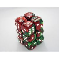 Gemini Green-Red/White 12x16mm D6