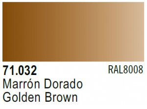 Vallejo Model Air: 71.032 Golden Brown 17ml