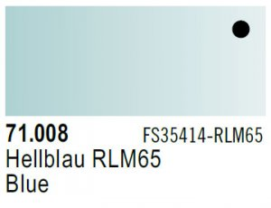 Vallejo Model Air: 71.008 RLM65 Blue 17ml