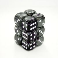 Gemini Purple-Steel/White 12x16mm D6