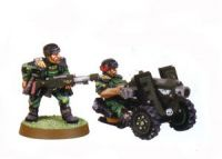 Imperial Guard Classic Cadian Heavy Bolter Team (Rare, OOP)