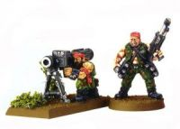 Imperial Guard Classic Catachan Missile Launcher Team (Rare, OOP)
