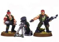 Imperial Guard Classic Catachan Mortar Team (Rare, OOP)