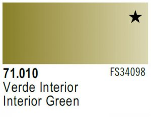Vallejo Model Air: 71.010 Interior Green 17ml