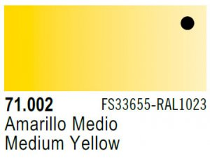 Vallejo Model Air: 71.002 Medium Yellow 17ml