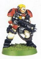 Space Marine Scout With Boltgun 1 (Rare, OOP)