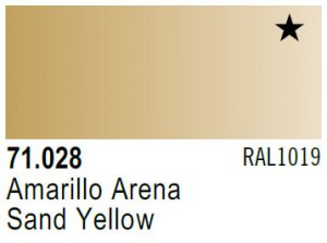 Vallejo Model Air: 71.028 Sand Yellow 17ml