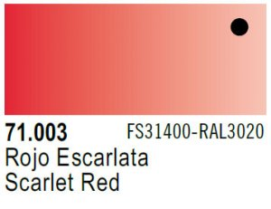 Vallejo Model Air: 71.003 Scarlet Red 17ml