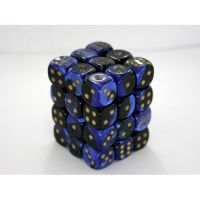 Gemini Black-Blue/Gold 36x12mm D6