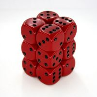 Opaque Red/Black 12x16mm D6