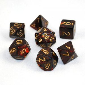 CHESSEX RPG СТИХИИ SCARAB BLUE-BLOOD/GOLD