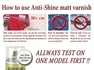 Army Painter Spray: Anti Shine Matt Varnish 400ml