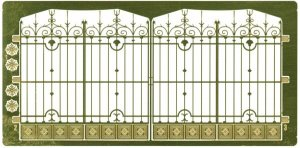 ETCHED BRASS Gate