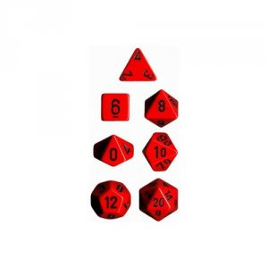 CHESSEX RPG MATY RED/BLACK