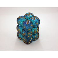 Borealis Teal/Gold 12x16mm D6