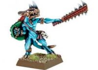 Lizardmen Skink Chief with Sword and Shield