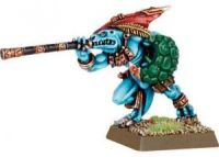 Lizardmen Skink Chief with Blowpipe