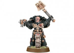 Space Marine Chaplain with Crozius and Bolt Pistol