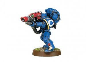 Space Marine with Lascannon (Collectors)