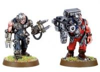 Space Marine Servitor set 2 with Heavy Bolter