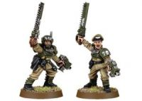 Imperial Guard Cadian Officers with Chainswords (Collectors)