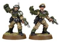 Imperial Guard Cadian Officers with Power Fists (Collectors)