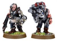 Space Marine Servitor set 1 with Multi-melta