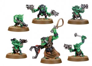 Ork Grot Mob & Runtherder (Collectors)