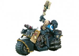 Space Marine Chaplain on Bike