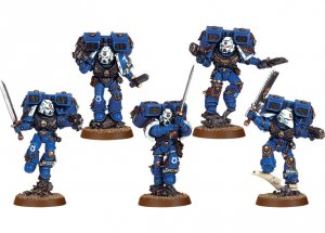 Space Marine Vanguard Veteran Squad (Finecast)