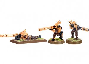 Tau Pathfinders with Rail Rifles (2 random models)
